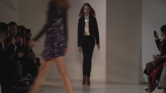 Jill Stuart Fashion Show Fall 2015 Collection NYFW 03 Stock Footage