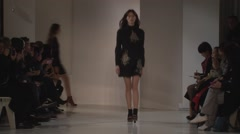 Jill Stuart Fashion Show Fall 2015 Collection NYFW 04 Stock Footage