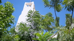 CHURCH STEEPLE AMONGST THE TREES.  VERSION #2 OF 2. Stock Footage