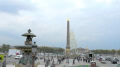 The monolith at place de la concorde in Paris Stock Footage