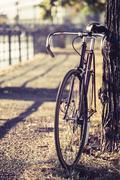Bike road fixed gear bicycle - stock photo