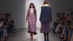Karen Walker Fashion Show Fall 2015 Collection NYFW 04 Stock Footage