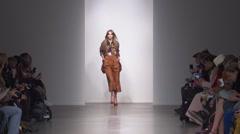 Karen Walker Fashion Show Fall 2015 Collection NYFW - Full Length - stock footage