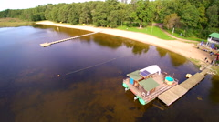 The tourist spot named Kuremaa lake Stock Footage