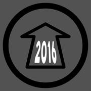 2016 Ahead Arrow Icon - stock illustration
