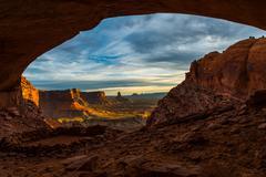False Kiva Canyonlands National Park Stock Photos