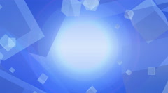 Blue abstract background with white cube particle - stock footage