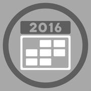 2016 Organizer Grid Icon - stock illustration