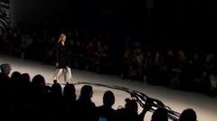 Lie Sang Bong Fashion Show Fall 2015 Collection NYFW 03 Stock Footage