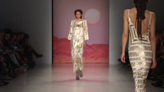 Mara Hoffman Fashion Show Fall 2015 Collection NYFW 06 Stock Footage