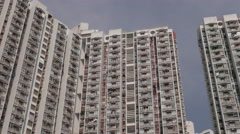 Blocks of flats in dense populated area of Kowloon. Hong Kong.  4K resolution Stock Footage