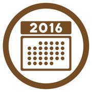 Stock Illustration of 2016 Month Syllabus Icon