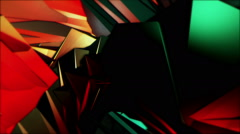 Organic Low Poly Patterns Stock Footage