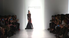 Michael Costello Fashion Show Fall 2015 Collection NYFW full length Stock Footage