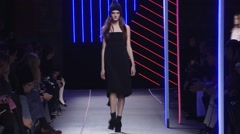 Milly Fashion Show Fall 2015 Collection NYFW 05 Stock Footage