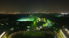 time lapse: night view of Suzhou city,one of  old travel city at China Stock Footage