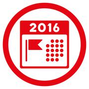 2016 Holiday Appointment Icon - stock illustration