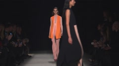 Narciso Rodriguez Fashion Show Fall 2015 Collection NYFW 02 Stock Footage