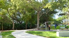 Brickell Bike Path Stock Footage