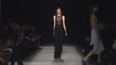 Narciso Rodriguez Fashion Show Fall 2015 Collection NYFW 03 Stock Footage