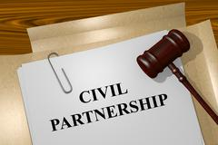 Civil Partnership concept - stock illustration