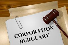 Corporation Burglary concept - stock illustration
