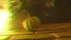 4k Distorted pumpkin video Stock Footage