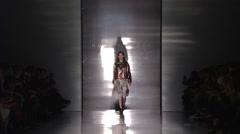 Stock Video Footage of Noon by Noor Fashion Show Fall 2015 Collection NYFW 01