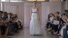 Oscar de la Renta Bridal Fashion Show 2016 Collection NYFW 01 Stock Footage
