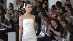 Oscar de la Renta Bridal Fashion Show 2016 Collection NYFW 02 Stock Footage