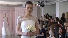 Oscar de la Renta Bridal Fashion Show 2016 Collection NYFW 04 Stock Footage