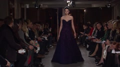 Oscar de la Renta Fashion Show Fall 2015 Collection NYFW 06 Stock Footage
