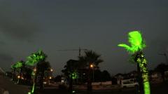 Boulevard night on Batumi Stock Footage