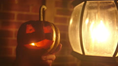 4k mini pumpkin jack o lantern Stock Footage