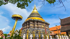 Wat Phra That Lampang Luang Famous Temple Of Lampang, Thailand Stock Footage