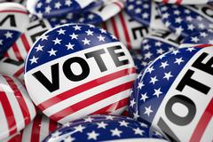 American vote button Stock Illustration