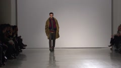 Perry Ellis Fashion Show Fall 2015 Collection NYFW 01 Stock Footage
