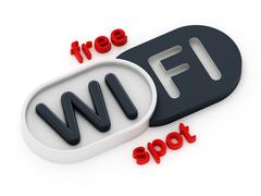 Free WiFi spot badge Stock Illustration