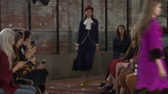 Project Gucci Cruise Fashion Show 2016 Collection NYFW 02 Stock Footage