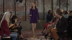 Project Gucci Cruise Fashion Show 2016 Collection NYFW 03 Stock Footage