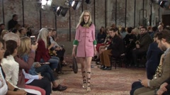 Project Gucci Cruise Fashion Show 2016 Collection NYFW 07 Stock Footage
