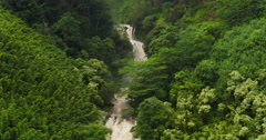 Aerial View of Amazing Powerful Waterfall in Tropical Jungle. - stock footage