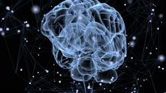 Animation illustrating the thought processes in the brain - stock footage