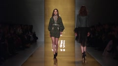 Reem Acra Show Fall 2015 Collection NYFW 02 Stock Footage