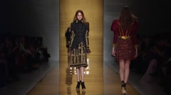 Reem Acra Show Fall 2015 Collection NYFW 03 Stock Footage