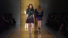 Reem Acra Show Fall 2015 Collection NYFW 04 Stock Footage