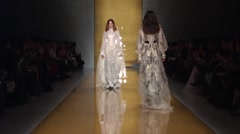 Reem Acra Show Fall 2015 Collection NYFW 06 Stock Footage