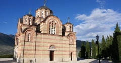 Orthodox monastery in Trebinje Stock Footage