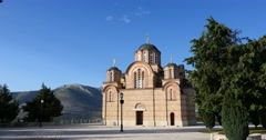 Stock Video Footage of Orthodox monastery in Trebinje