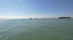 The Venetian Lagoon on a sunny day, Venice Stock Footage